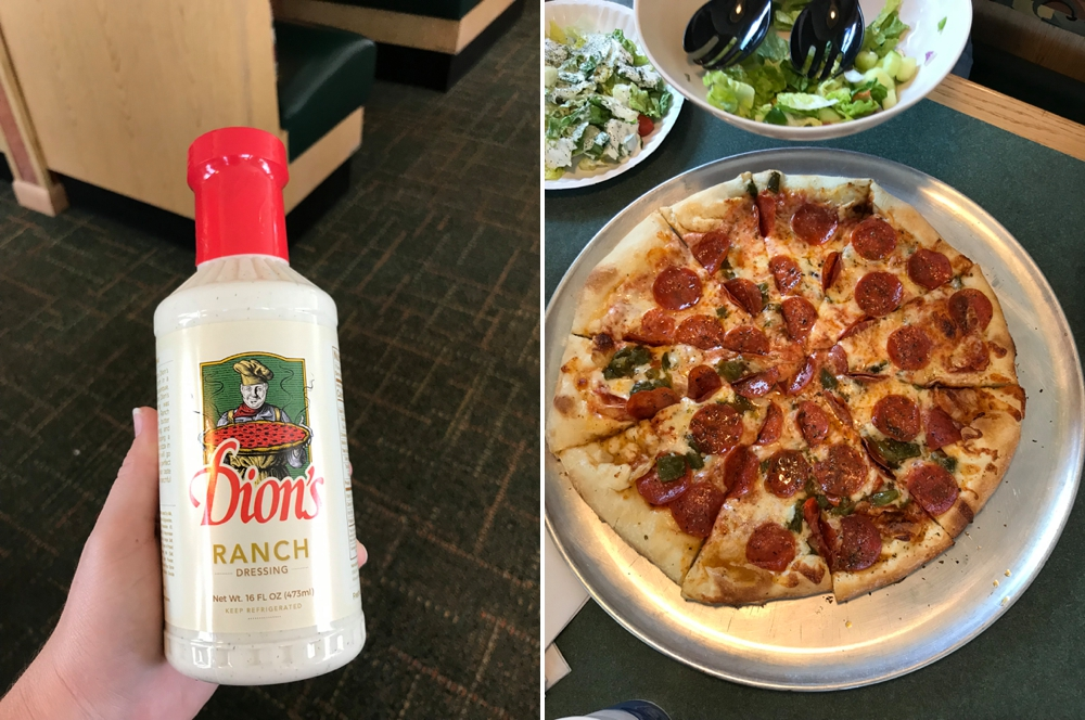 Green Chile & Pepperoni Pizza with Dion's Ranch