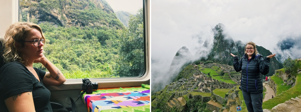 Taking the train to Machu Picchu, Peru